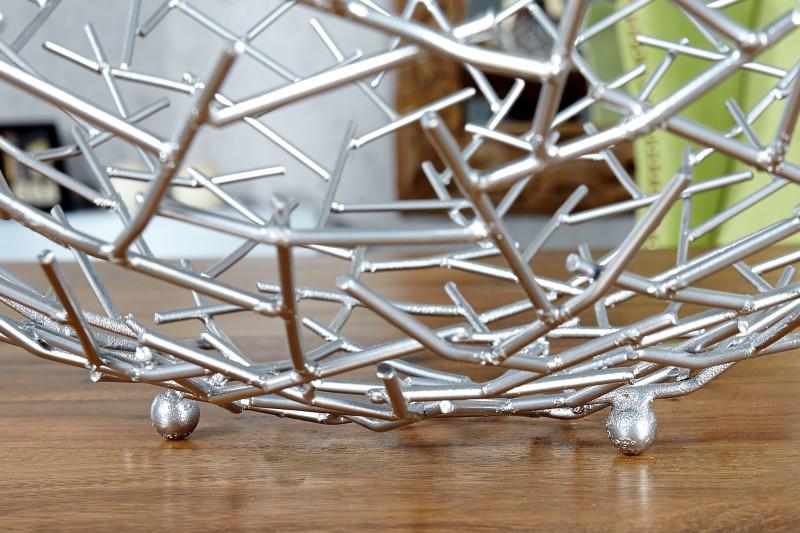 Ovocná mísa Struktura stříbrná / 19008