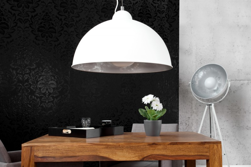 Závěsná lampa Hollywood l - bílá, stříbrná / 22496