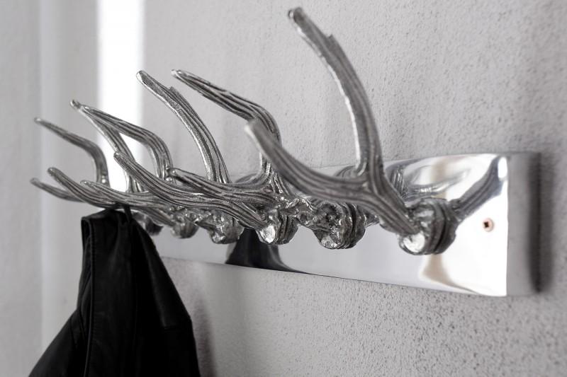 Nástěnný věšák Deer 50cm - stříbrný / 22529