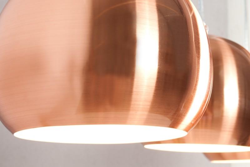 Závěsná lampa Violet 3er - měděná / 22975