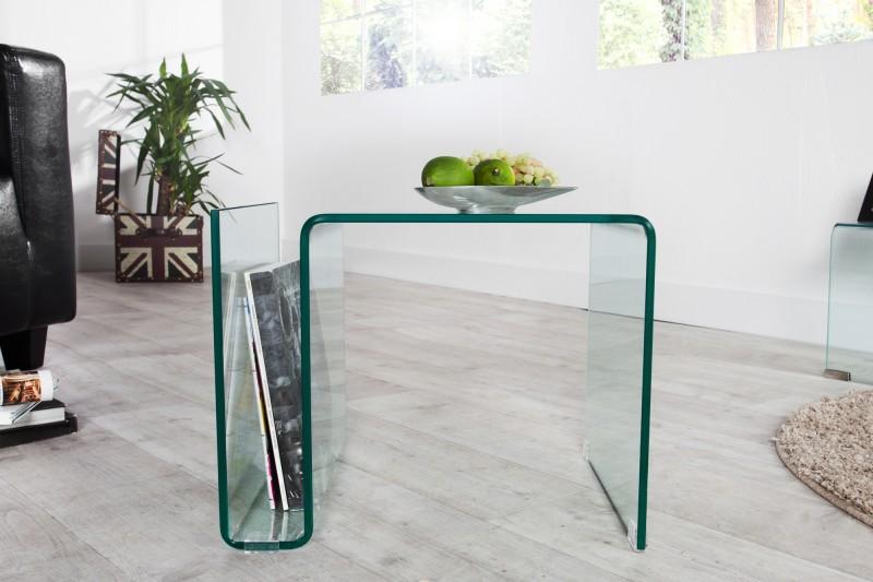 Konferenční stolek Fantome 50cm x 40cm - tvrzené sklo / 22860