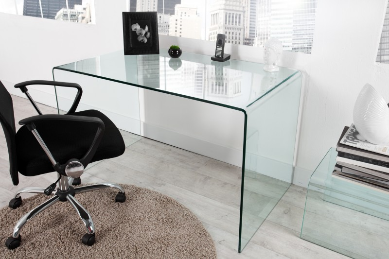 Pracovní stůl Fantome 120cm x 70cm - tvrzené  sklo / 22862