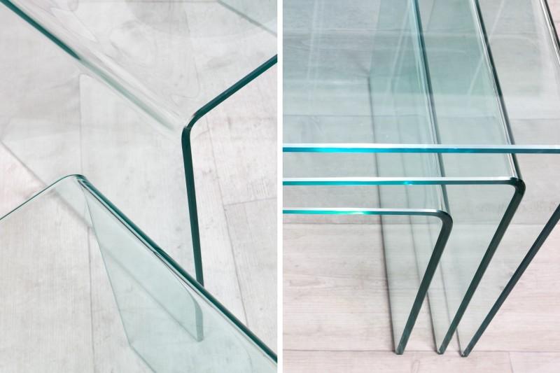 Konferenční stolek Fantome 3ks - tvrzené sklo   / 22864