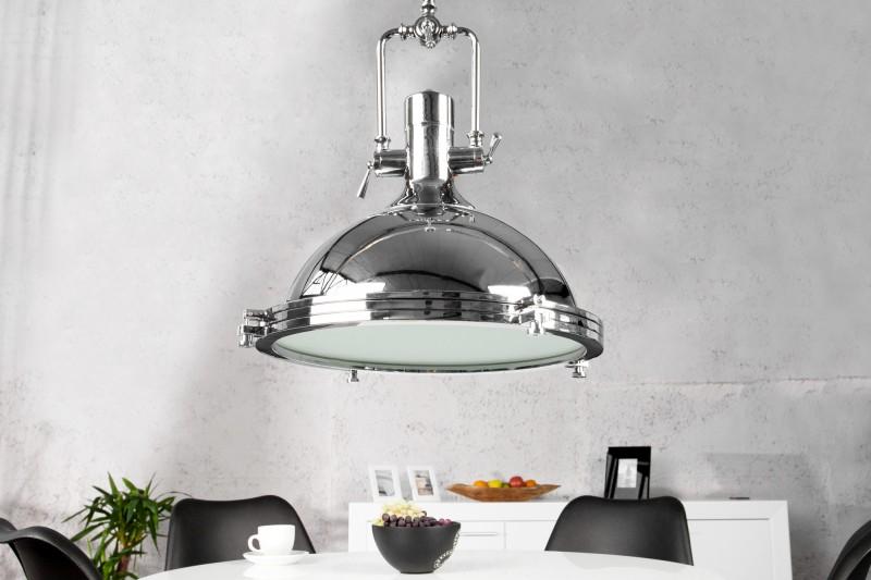 Závěsná lampa Logan - chromovaná / 45cm / 22856