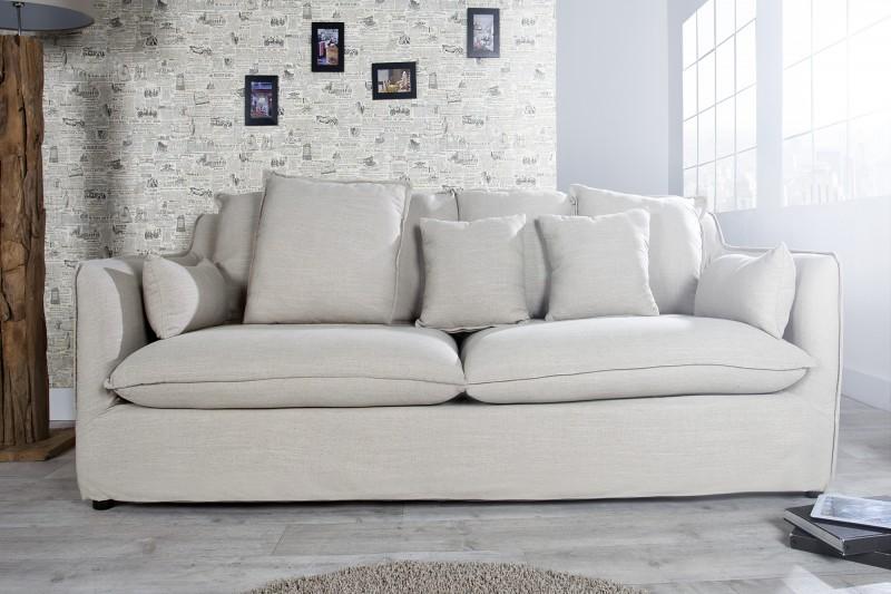 Sofa Heaven 3er Leinen Beige 22688