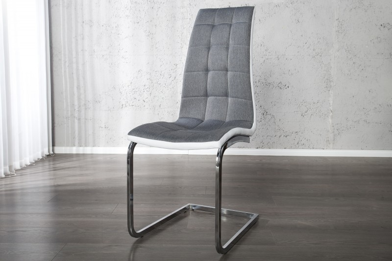 Jídelní židle Claire - šedá, bílá / 22983