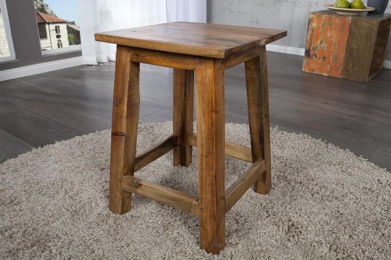 Stolička Jakarta 30cm - recyklované dřevo / 22751