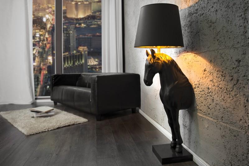Stojací lampa Black Horse - černá / 30082