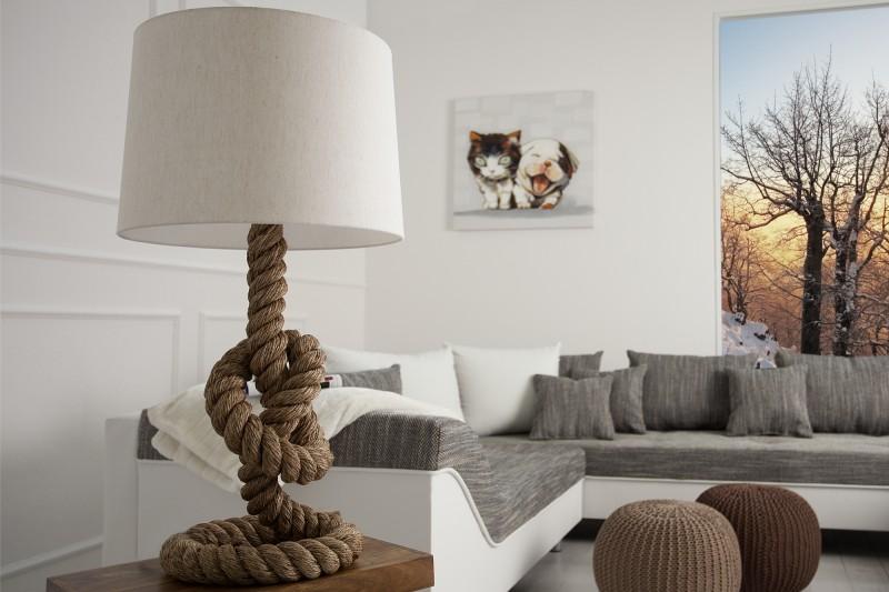 stehleuchte seven seas 85cm m echtem tau 30201 3989. Black Bedroom Furniture Sets. Home Design Ideas
