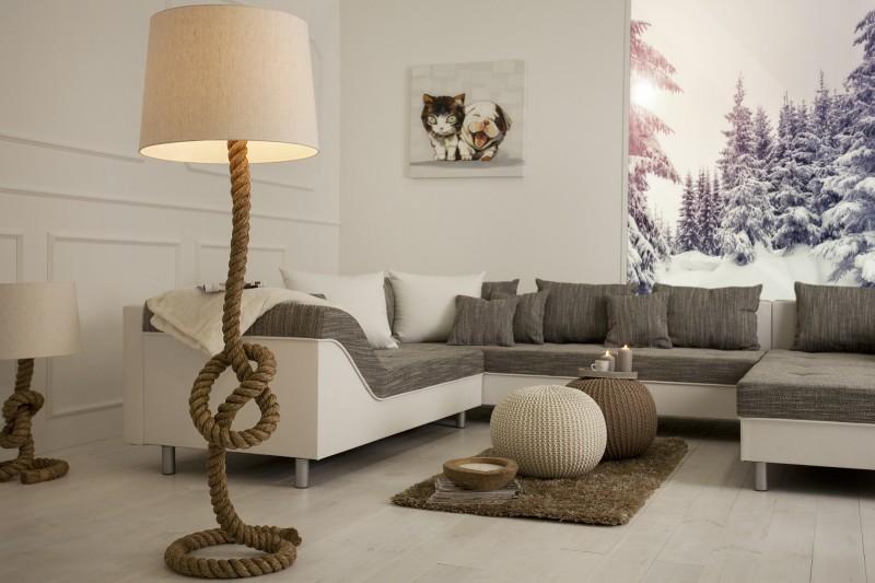 Stojací lampa Seven Seas 160cm - lano  / 30202