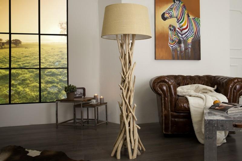 Stojací lampa Wild Nature 155cm - naplavené dříví / 30208