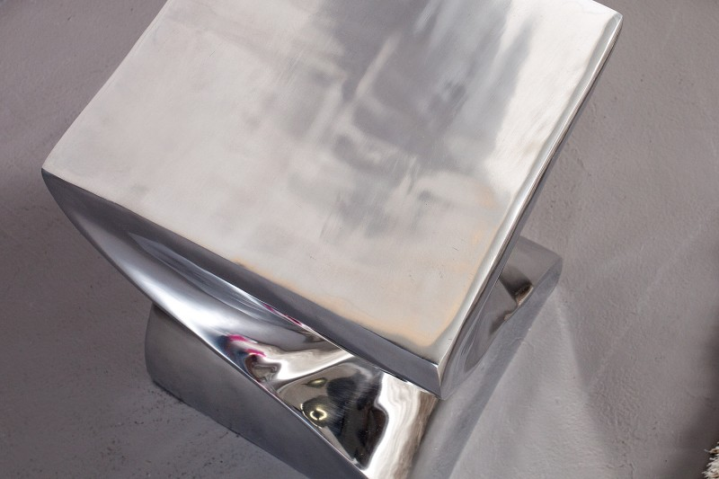 Konferenční stolek Ruby 45cm- stříbrný  / 30220