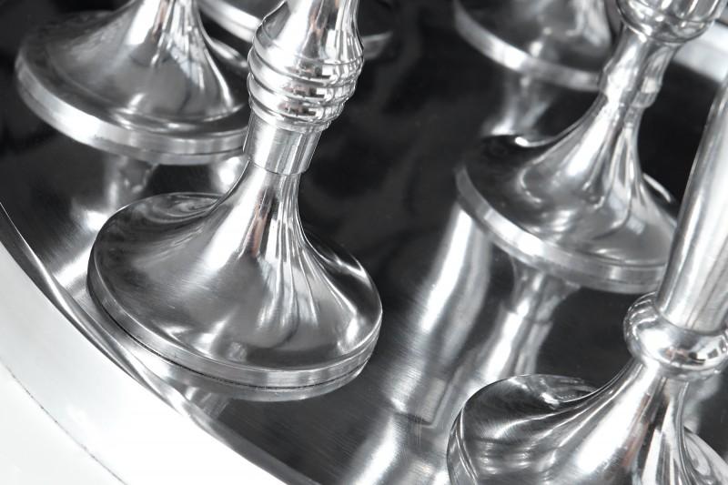 Svícen 9 světla stříbrná / 17366