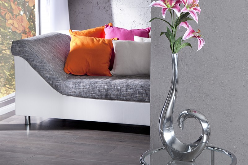 Váza Wave 50cm - stříbrná  / 8841