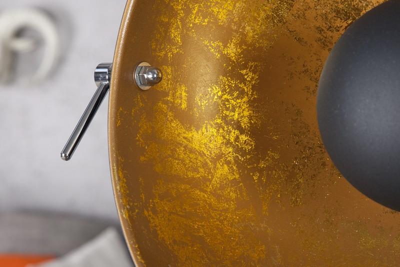 Stojací lampa Hollywood 160cm - černá, zlatá / 18692