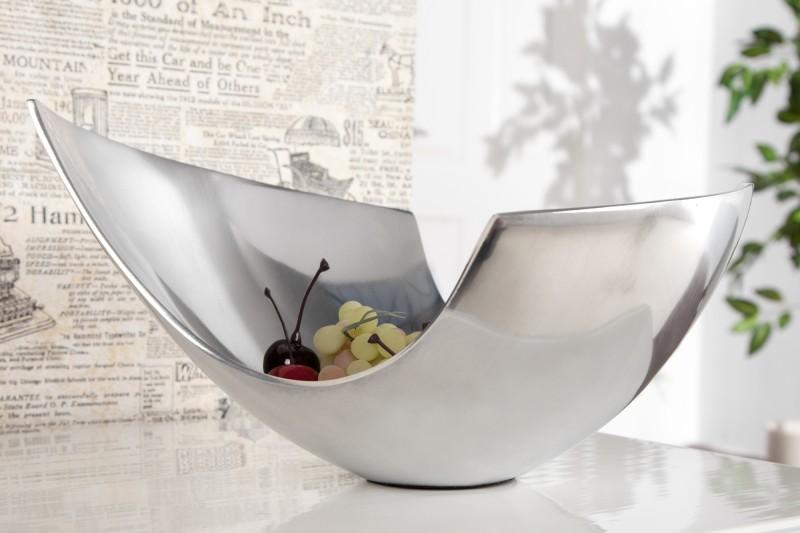 Dekorativní mísa Abstract 25cm - hliník  / 8510