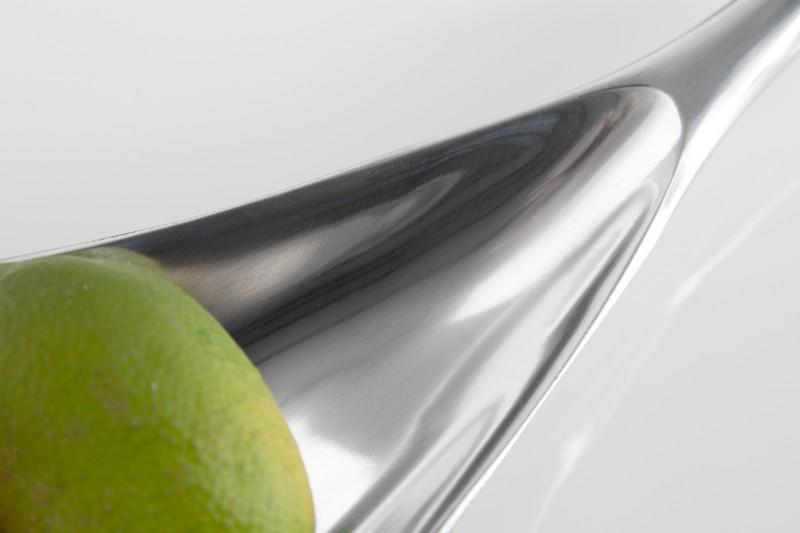 Miska Silver Leaf 60cm - stříbrná / 17370