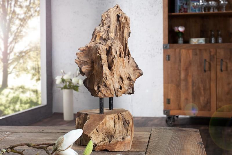 Ornamentní plamen 30-40cm - teak / 35487