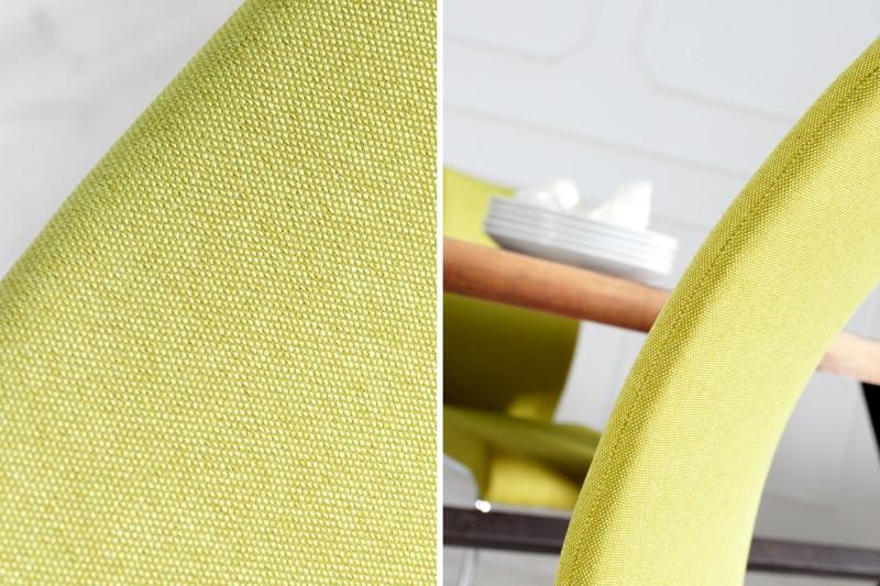 Jídelní židle Emily - citronově-zelená  / 22416