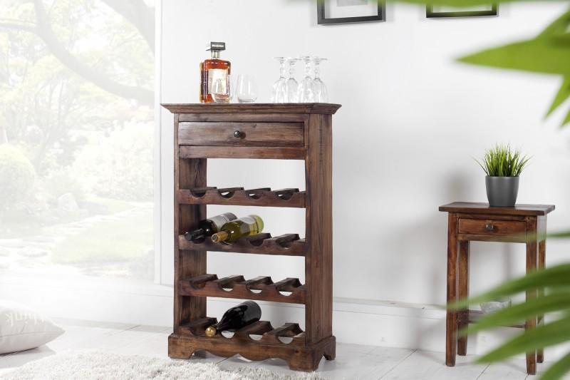 Stojan na víno Mannon - vintage hnědá / 35577