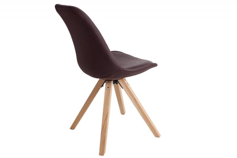 Jídelní židle Scandinavia Wood I - tmavě hnědá / 35707