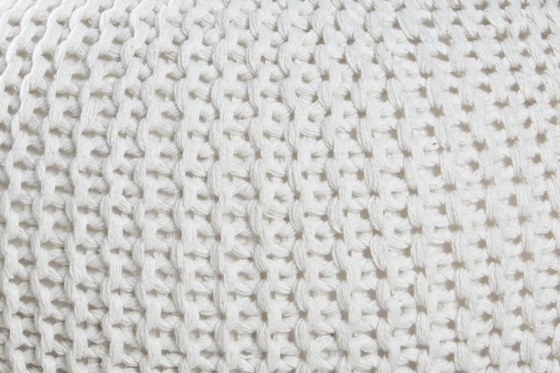 Podnožka Leeds 50cm - bílá, pletená / 23100