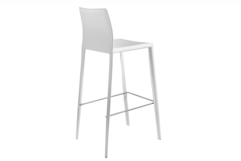 Barová židle Milano bílá kůže / 35618