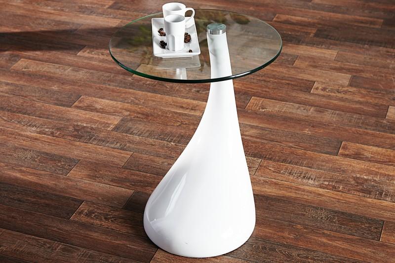 Beistelltisch glas weiß  Beistelltisch Lounge Tear weiss/ 152 -2586
