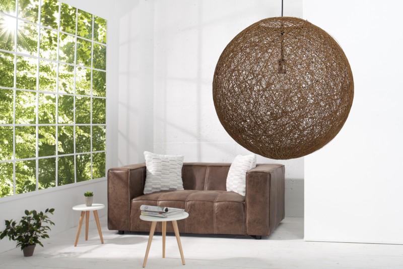 Závěsná lampa Milles - přírodní hnědá 60cm / 35794