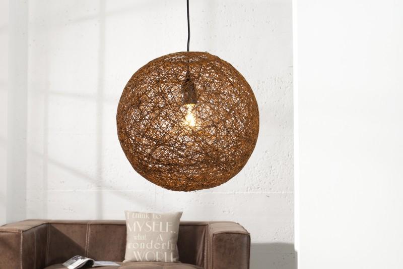 Závěsná lampa Milles - přírodní hnědá 45cm / 35793