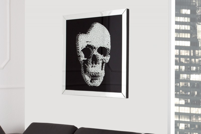 Obrázek Zrcadlová lebka 60x60cm / 35439
