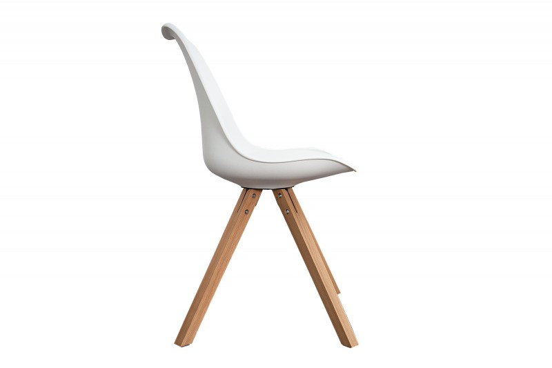 Židle Skandinávie bílé masivní dřevo / 35782