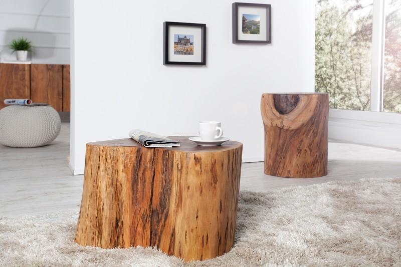 beistelltisch baumstamm pure 30cm akazie 35899 4549. Black Bedroom Furniture Sets. Home Design Ideas