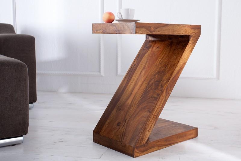 """Konferenční stolek """"Z"""" 45cm x 60cm - Sheesham / 35087"""