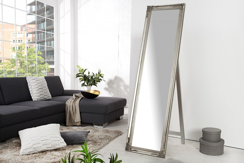 Stojanové zrcadlo Versailles 160cm - stříbrné / 35743