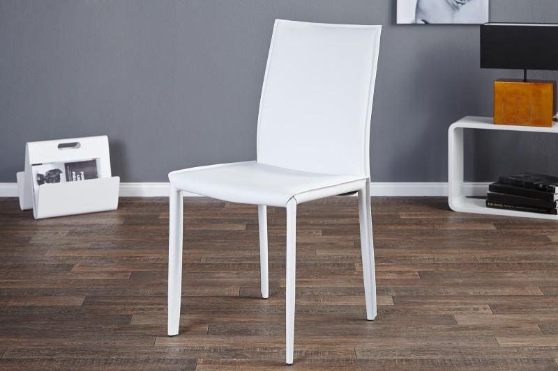stuhl milano weiss leder 11565 2334. Black Bedroom Furniture Sets. Home Design Ideas