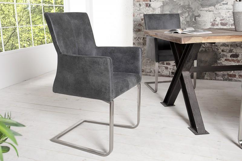 freischwinger sessel grau williamflooring. Black Bedroom Furniture Sets. Home Design Ideas