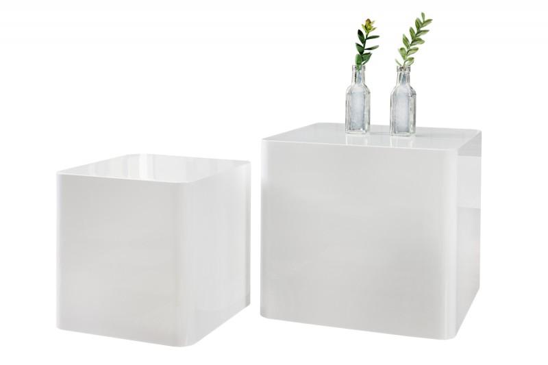 Konferenční stolek Monoblock 2ks -bílá / 35894
