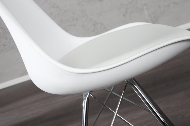 Skandinávská retro židle bílá / 35784