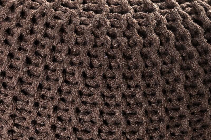 Podnožka Leeds 50cm - tmavě hnědá, pletená / 35091