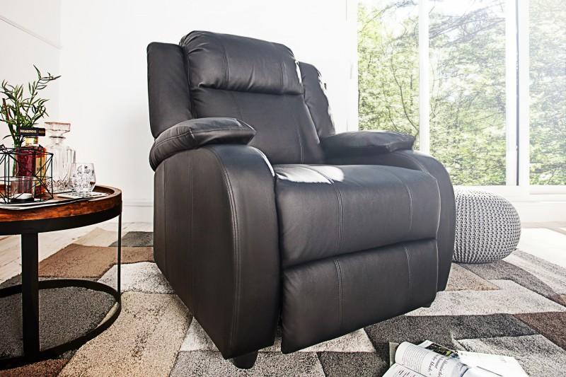 Relaxační křeslo Fullerton - černé / 36029
