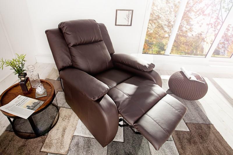 Relaxační křeslo Fullerton - hnědé / 36030