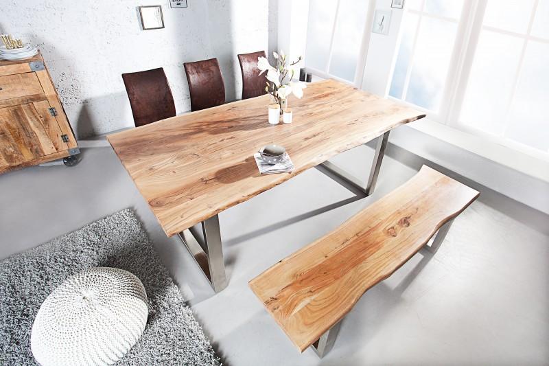 bank mammut 160cm akazie 35mm 35946 4528. Black Bedroom Furniture Sets. Home Design Ideas