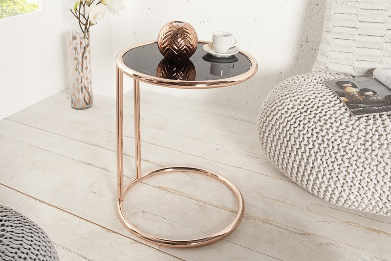 Odkládací stolek Art Deco - měď, černá / 36061