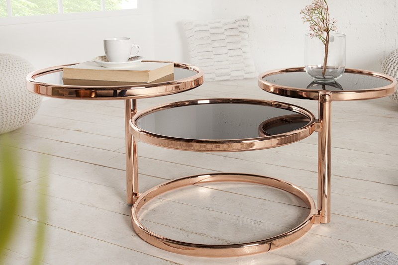 Konferenční stolek Art Deco 45cm - měď / 36065