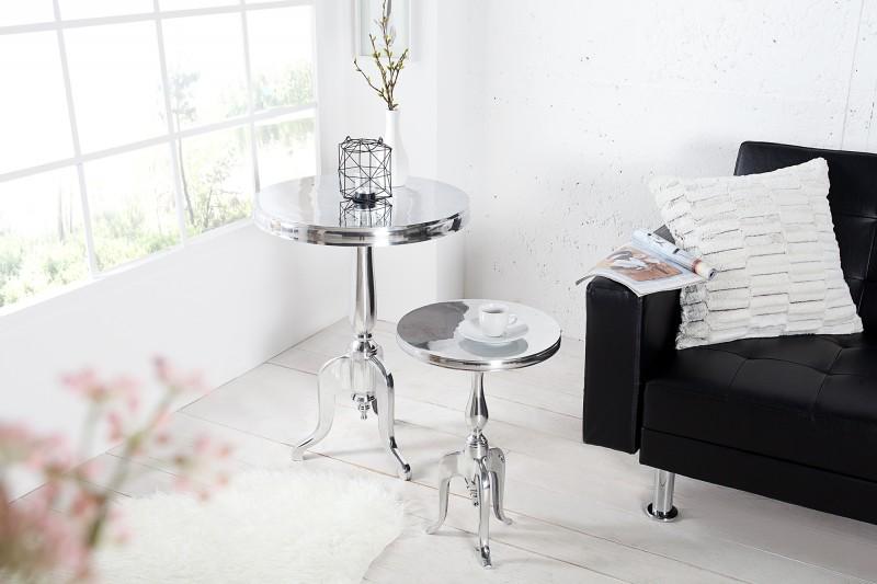 Odkládací stolek Jardin 75cm - stříbrný  / 35734