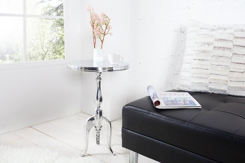Odkládací stolek Jardin 55cm - stříbrný  / 35735
