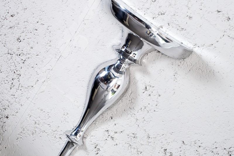 Nástěnná konzole Baroque Scala 60cm - stříbrná / 35730
