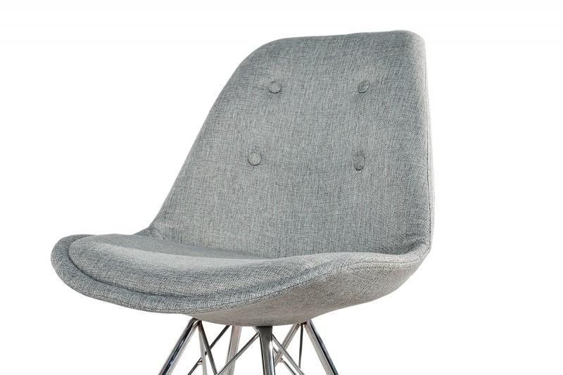 Jídelní židle Scandinavia Steel - šedá, polyester / 36092