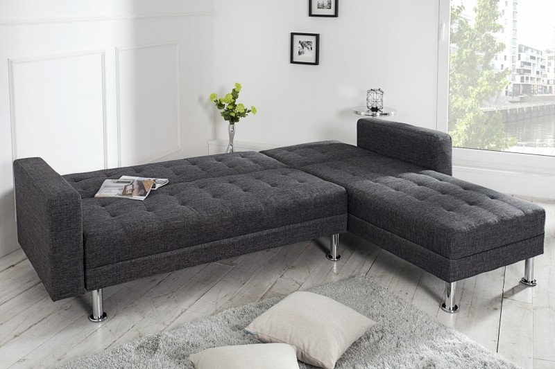 ecksofa chaise lounge stoff anthrazit 36140 4837. Black Bedroom Furniture Sets. Home Design Ideas